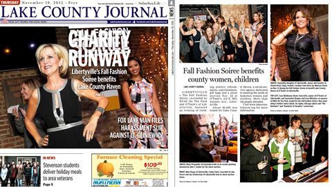 Lake County Journal Fall Fashion Soiree cover story.