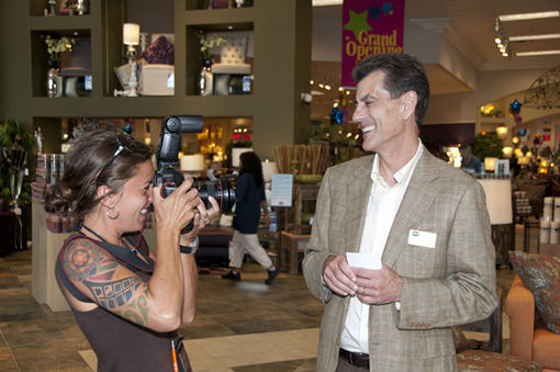 Gary Steinhafel at the Grand Opening of a new store.